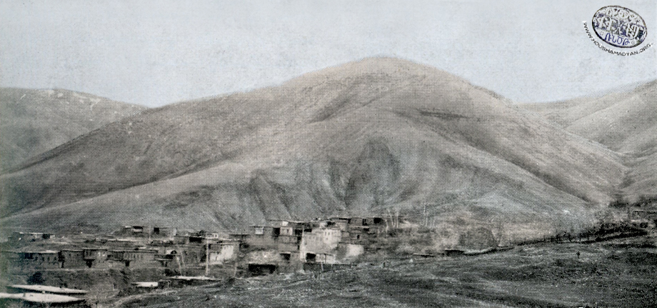 A general view of the village of Verin Khokh (present-day Dedeyolu)