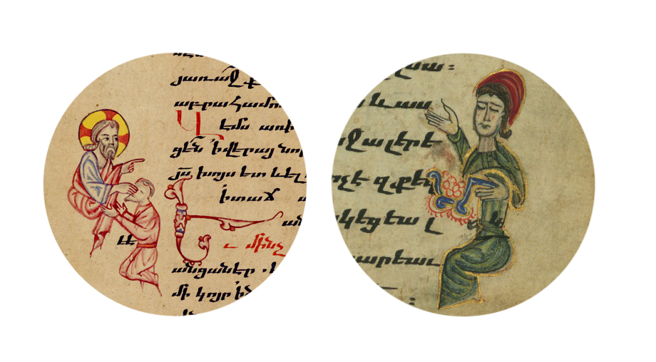 Illustrations regarding medicine taken from Armenian manuscripts