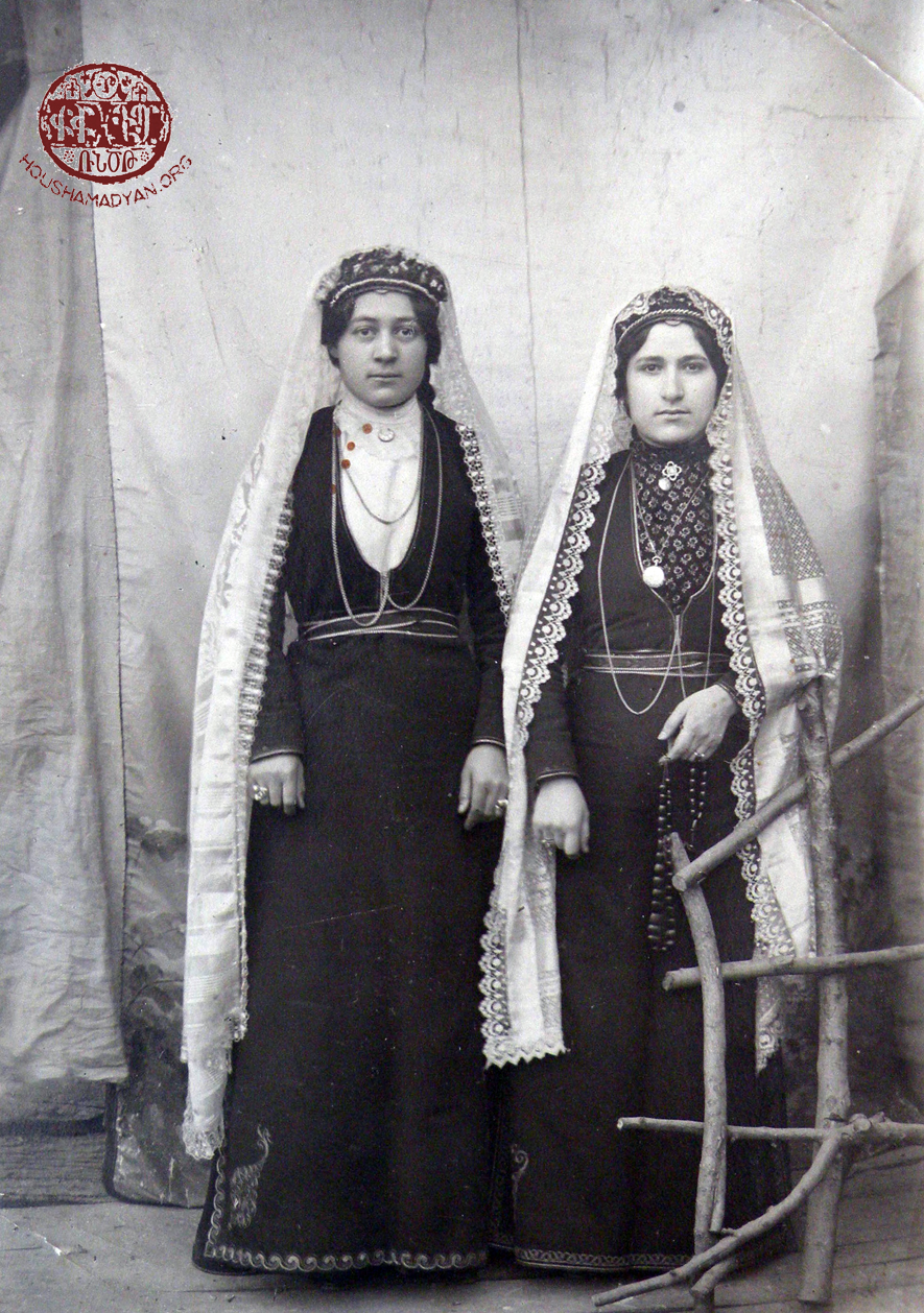 Arapgir. Two sisters, from left to right – Khosrovitoukhd and Shoushanig