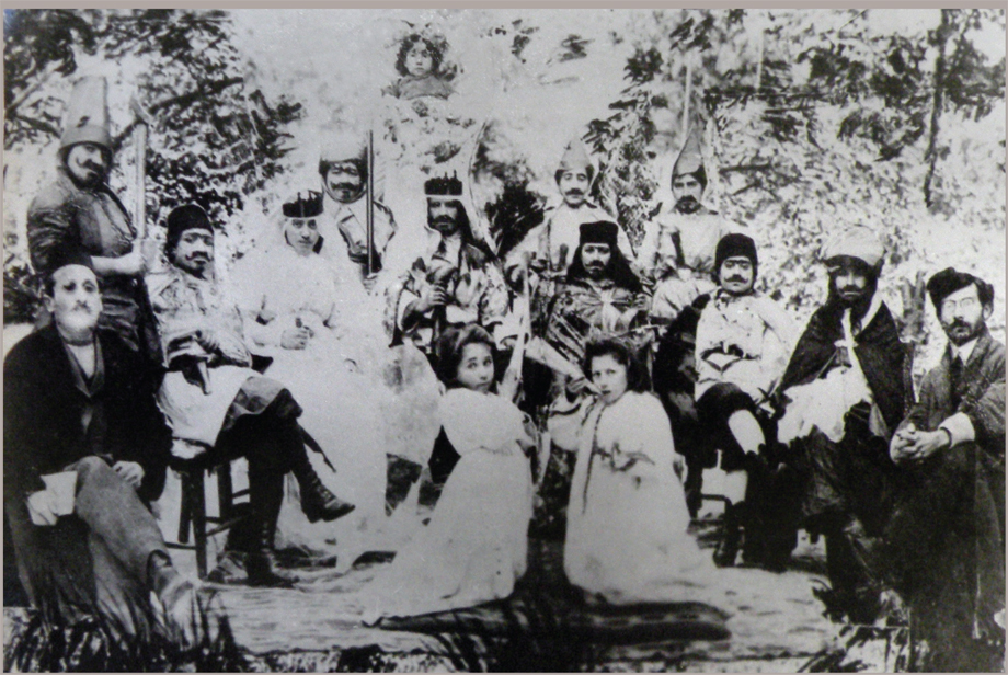 Hussenig, 1911. A theatrical presentation by the village girls