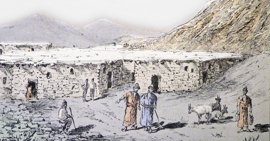 A picture of an Armenian village in the Ottoman Empire (Source: H. Binder, Au Kurdistan, en Mésopotamie et en Perse, Paris, 1887)