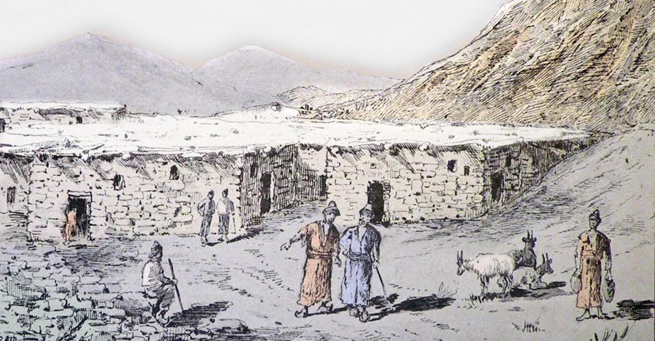 A picture of an Armenian village in the Ottoman Empire (Source: H. Binder, Au Kurdistan, en Mésopotamie et en Perse, Paris, 1887)