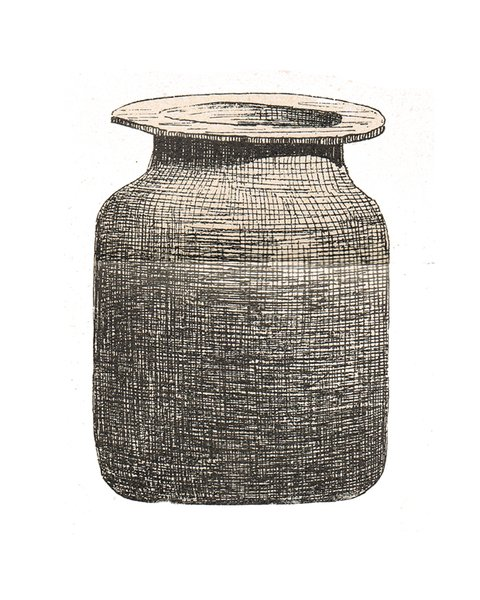 A pghough (or pghoug, pgheg) a clay vessel used for storing cheese or various bitter items