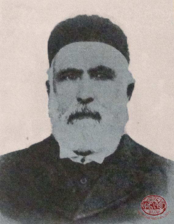 Senior pastor Simon Terzian, one of the lecturers of the Marash Theological Gymnasium (Kalusdian, op. cit.)