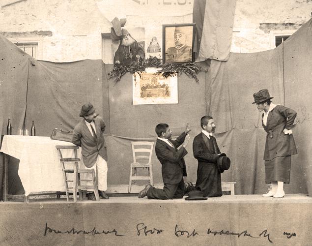 Որբերու կողմէ թատերական ներկայացում Տէօրթեօլի «Քելէկեան» որբանոցին մէջ, 1920-1921